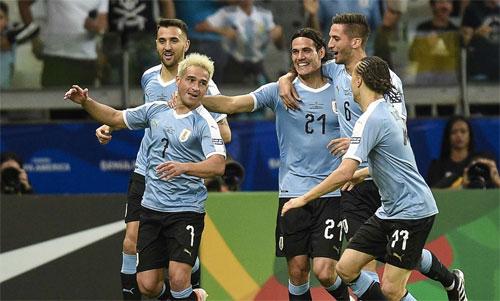 Uruguay cùng Brazil và Colombia là ba ứng cử viên hàng đầu. Ảnh: Reuters