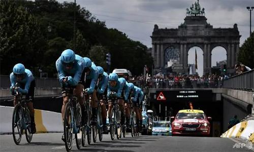 An ninh đang là vấn đề tại Tour de France năm nay. Ảnh: AFP.