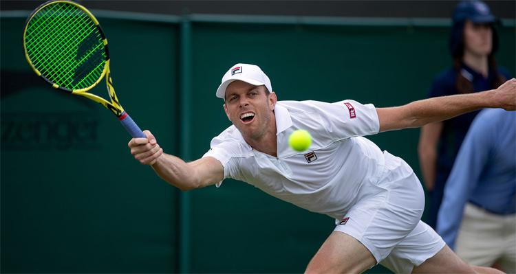 Querrey từng thắng Thiem 3-1 ở vòng một. Ảnh: Wimbledon.