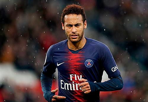 Neymar không còn thiết tha thi đấu cho PSG. Ảnh:AFP.