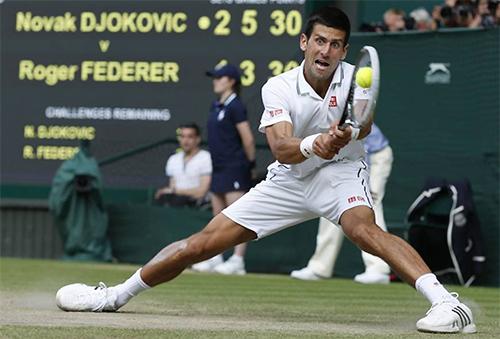 Djokovic thừa nhận chưa từng đấu trận chung kết nào chật vật như khi gặp Federer tại Wimbledon 2019. Ảnh: Wimbledon.