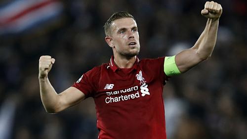 Henderson thể hiện tốt vai trò thủ lĩnh ở Liverpool. Ảnh:Reuters.
