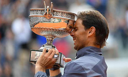 Nadal là người duy nhất vô địch một giải Grand Slam tới 12 lần. Ảnh: AFP.