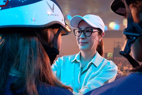 Nữ diễn viên Dương Tử Quỳnh là vợ của ông Jean Todt, cũng thamdự chương trình Đỉnh cao công nghệ - Tuyệt đối an toàn hôm nay.