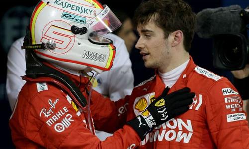 Leclerc gây ấn tượng với sự điềm tĩnh tạiGP Bahrain. Ảnh: AP.