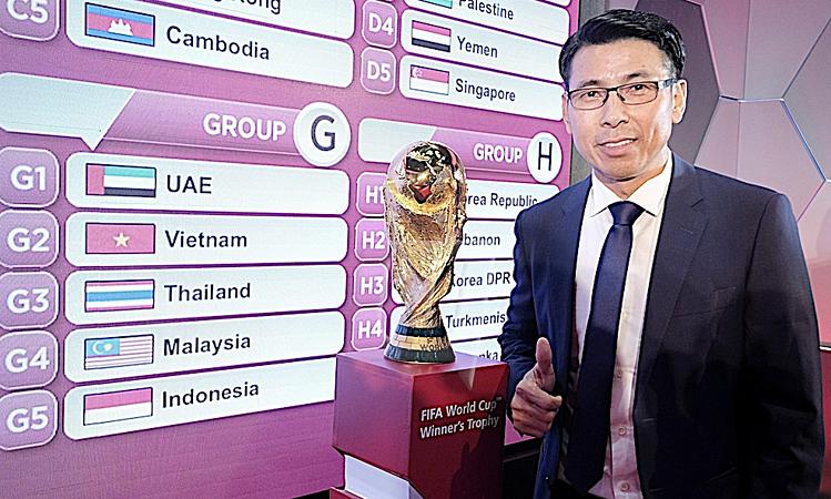 HLV Tan Cheng Hoe cho rằng bảng G có lợi với Malaysia về quãng đường di chuyển, nhưng không hạ thấp các đối thủ. Ảnh: Utusan.