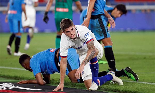Pulisic và hàng công Chelsea có buổi tối thi đấu vô hại trước đối thủ châu Á. Ảnh: Reuters.