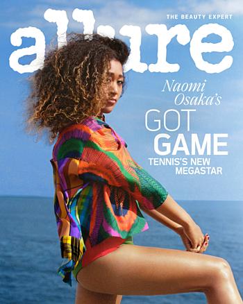 Osaka trên bìa tạp chí Allure.