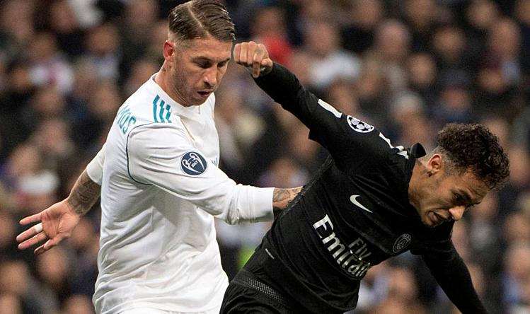 Neymar (phải) đang tìm đường đào thoát khỏi PSG. Ảnh: AS.