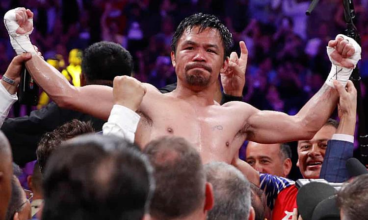 Pacquiao giành đai WBA ở tuổi 40. Ảnh: AP.