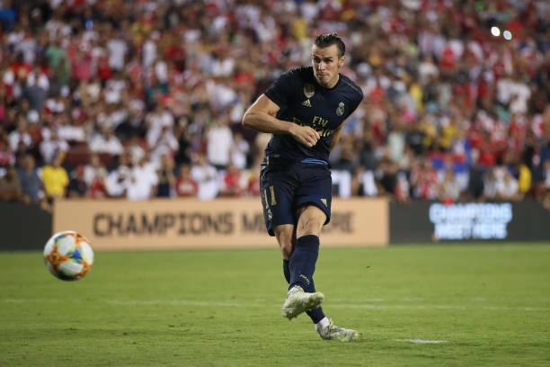 Ở loạt sút luân lưu, Bale không hoàn thành nhiệm vụ, nhưng Real của anh vẫn thắng 3-2. Ảnh: AP.