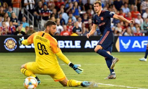 Goretzka ghi bàn duy nhất của trận đấu. Ảnh: Reuters
