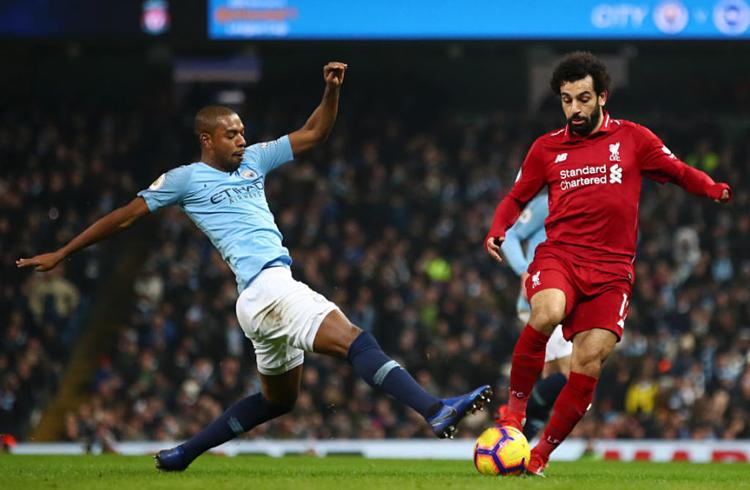 Man City và Liverpool tái hiện cuộc đua song mã. Ảnh:AFP.