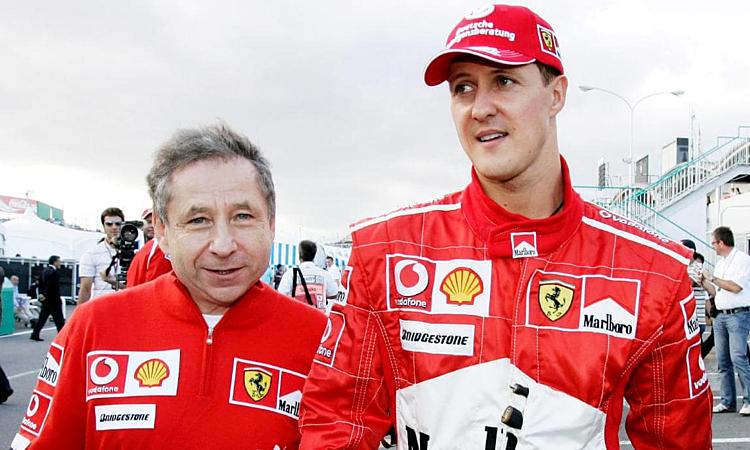 Jean Todt (trái) và Michael Schumacherthân thiết khi cả hai còn làm việc ở Ferrari. Ảnh: SS.