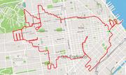 Runner Mỹ vẽ tranh bằng đường chạy