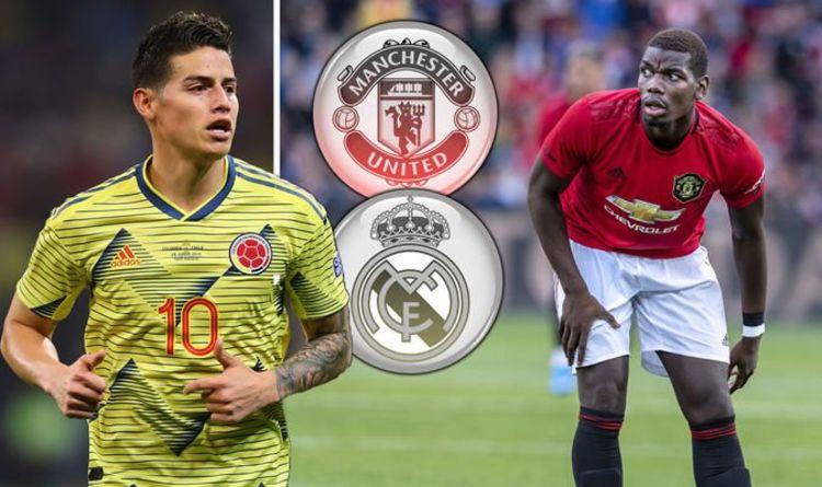 Phương án đổi James Rodriguez và tiền mặt lấy Pogba của Real không hấp dẫn với Man Utd.