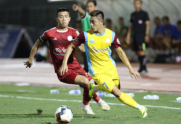 TP HCM gặp nhiều tổn thất sau trận thua Khánh Hoà 1-2 vòng trước. Ảnh: Hạnh Phúc.