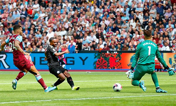Man City tiếp tục giữ truyền thống ghi nhiều bàn khi làm khách của West Ham. Ảnh: EPL.