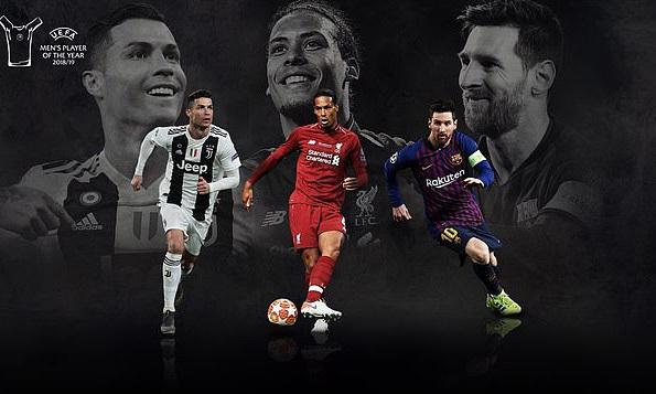 Ronaldo, Van Dijk và Messi sẽ cạnh tranh danh hiệu cá nhân đầu tiên trong năm 2019.