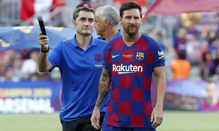 Messi bỏ lỡ trận ra quân mùa giải mới của Barca. Ảnh: AFP.