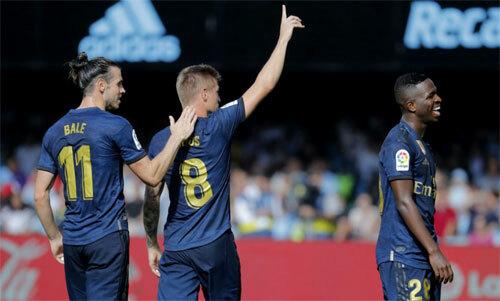 Dàn sao cũ đưa Real vượt lên trên Barca. Ảnh: Marca