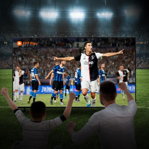 Người hâm mộ có thể theo dõi những trận đấu của Ronaldo tại SeriA trên FPT.