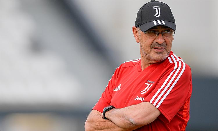 Sarri không chắc kịp bình phục để chỉ đạo Juventus đá trận ra quân Serie A cuối tuần này.