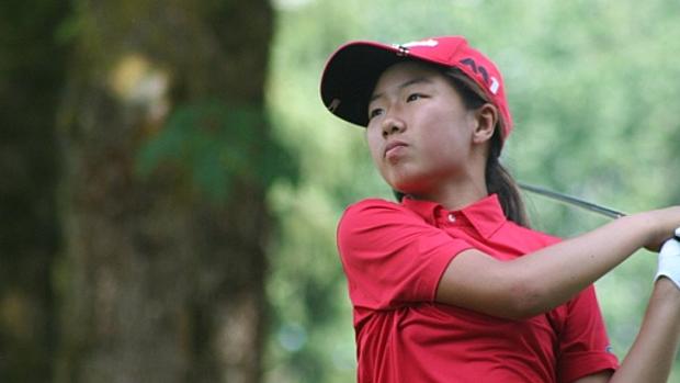 Cha mẹ đều không theo nghiệp thể thao nhưng Liu đam mê và học golf từ năm 6 tuổi cùng một người chị gái. Ảnh: Golf Channel.