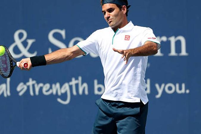Federer chỉ đấu hai trận xen giữa hai Grand Slam Wimbledon và Mỹ Mở rộng. Ảnh: Tennis World.