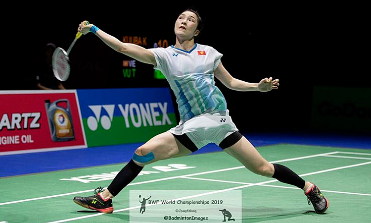 Vũ Thị Trang thi đấu thành công tại giải cầu lông VĐTG.