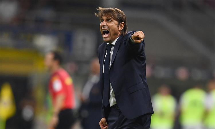 HLV Conte tức giận vì Inter nóng máy chậm. Ảnh: Inter.it.
