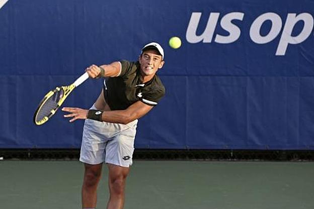 Hoang thắng ba trong bốn trận đã đấu tại các vòng đấu chính Grand Slam. Ảnh: LEquipe.