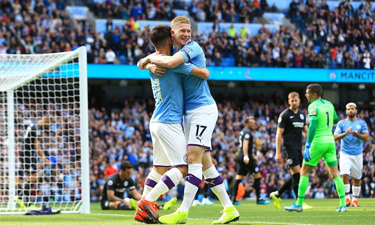 De Bruyneđã tham gia trực tiếp vào 6 bàn thắng của Man City trong bốn trận đầu Ngoại hạng Anh mùa này, với 5 đường kiến tạo thành bàn và một bàn thắng.