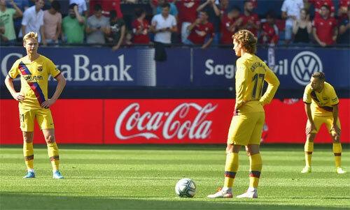 Barca đánh mất chiến thắng trong tầm tay.