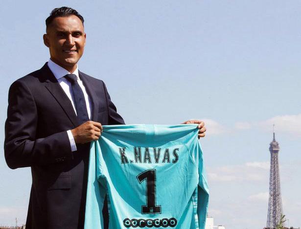 Keylor Navas khoác áo số 1 ở PSG trong mùa 2019-2020. Ảnh: PSG.