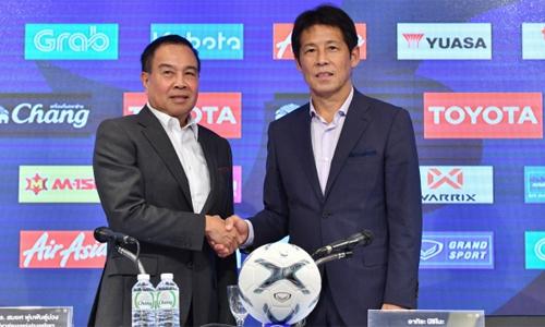HLV Nishino xem việc thắng Việt Nam là một mục tiêu. Ảnh: Siam Sport.