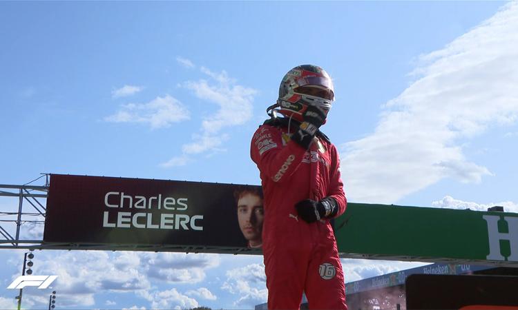Leclerc hoàn thành giấc mơ về nhất tại Monza trong lần đầu tiên đua F1 tại đây. Ảnh: F1.