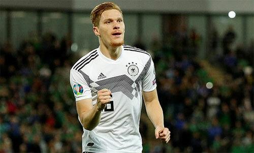 Halstenberg chơi cho Đức từ năm 2017.