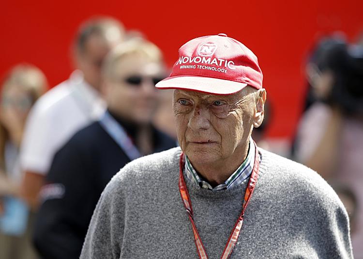 Lauda vừa qua đời đầu năm nay ở tuổi 70. Ảnh: AP.