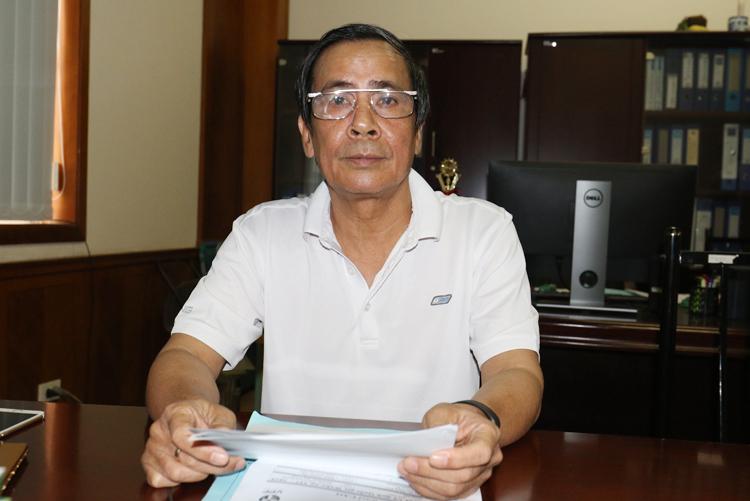 Trưởng Ban kỷ luật VFF Vũ Xuân Thành đưa ra các án phạt sáng 13/9. Ảnh: Lâm Thoả