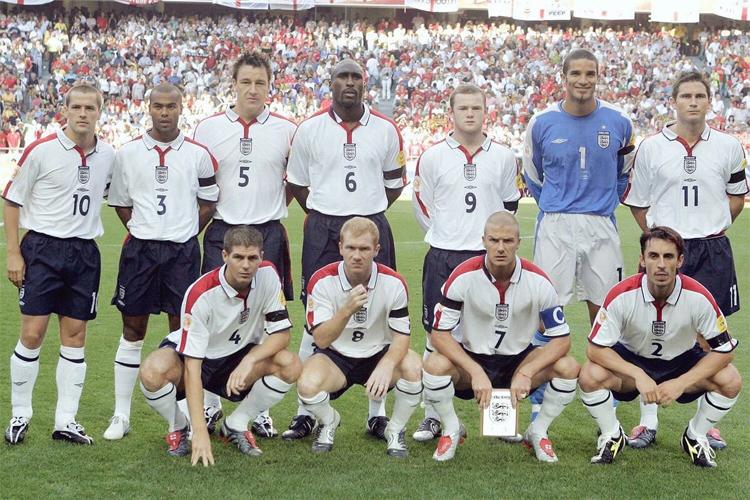 Tuyển Anh trong giai đoạn 2004-2010 sở hữu dàn cầu thủ vào diện hay bậc nhất thế giới.Ảnh: Reuters.