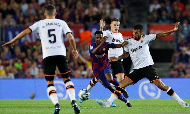 Fati được xem như viên kim cương mới của Barca. Ảnh: Antara Sports.