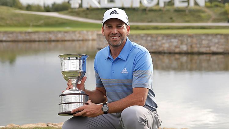Garcia chấm dứt cơn khát vô địch European Tour kéo dài từ tháng 10/2018. Anh cũng chưa vô địch PGA Tour kể từtháng 4/2017. Ảnh: Golf Channel.