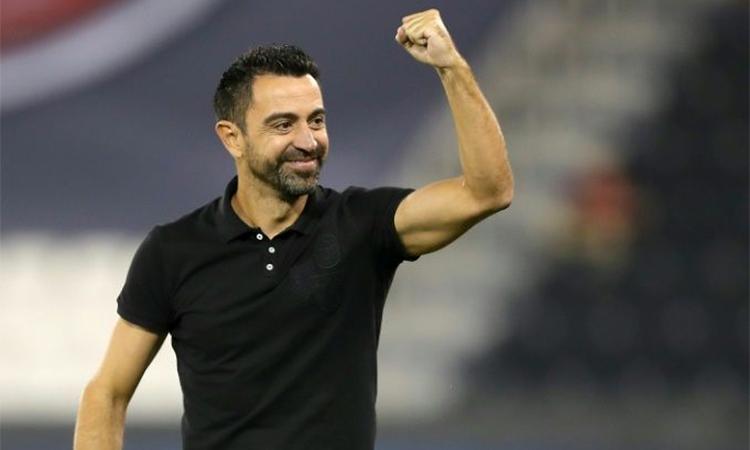 Xavi đang thành công với Al Sadd trên cương vị HLV. Ảnh: AFP.