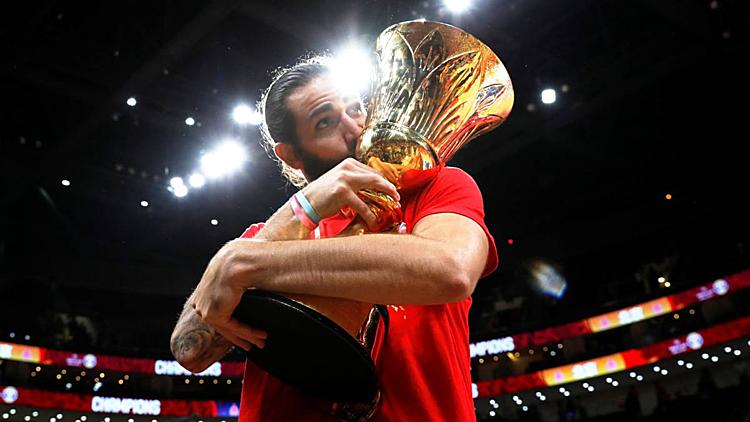 Rubio mừng chức vô địch World Cup thứ hai của Tây Ban Nha. Ảnh: Reuters.