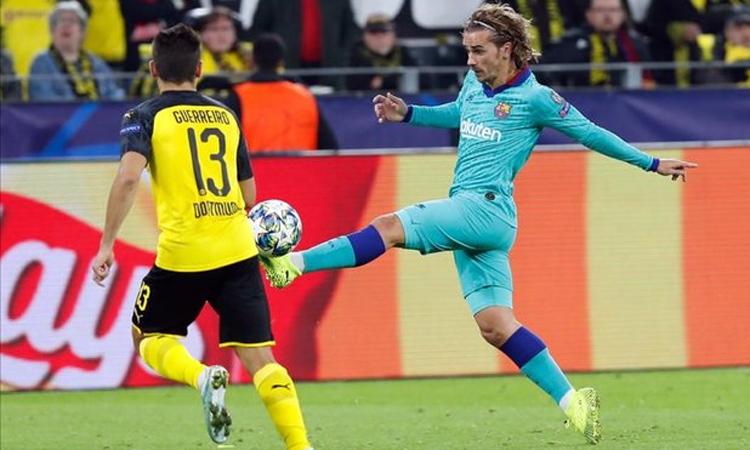 Griezmann thừa nhận vẫn đang làm quen với các đồng đội ở Barca, nên chưa thể tỏa sáng như mong đợi. Ảnh: Diario Sport.