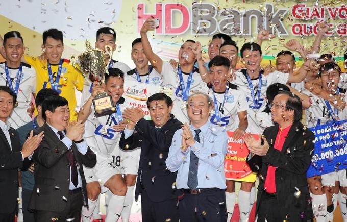 Thái Sơn Nam lần thứ chín vô địch giải Futsal HDBank quốc gia