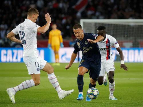Hazard mờ nhạt trong trận đá chính đầu tiên cho Real. Ảnh: Reuters