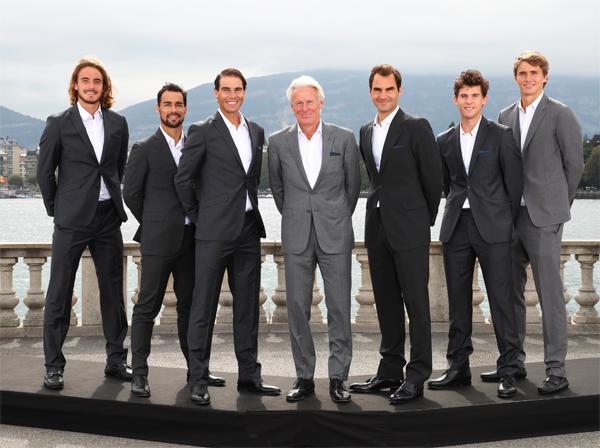 Có Nadal và Federer, đội châu Âu đang vượt trội tại Laver Cup, vô địch ở hai năm gần nhất. Ảnh: Laver Cup.