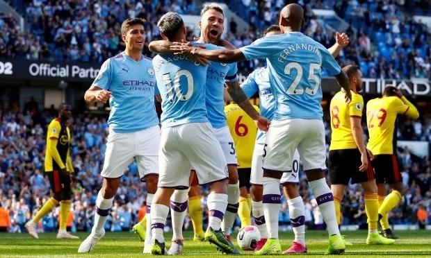 Man City tìm lại cảm giác chiến thắng, sau khi thua Norwich cuối tuần trước. Ảnh: Reuters.